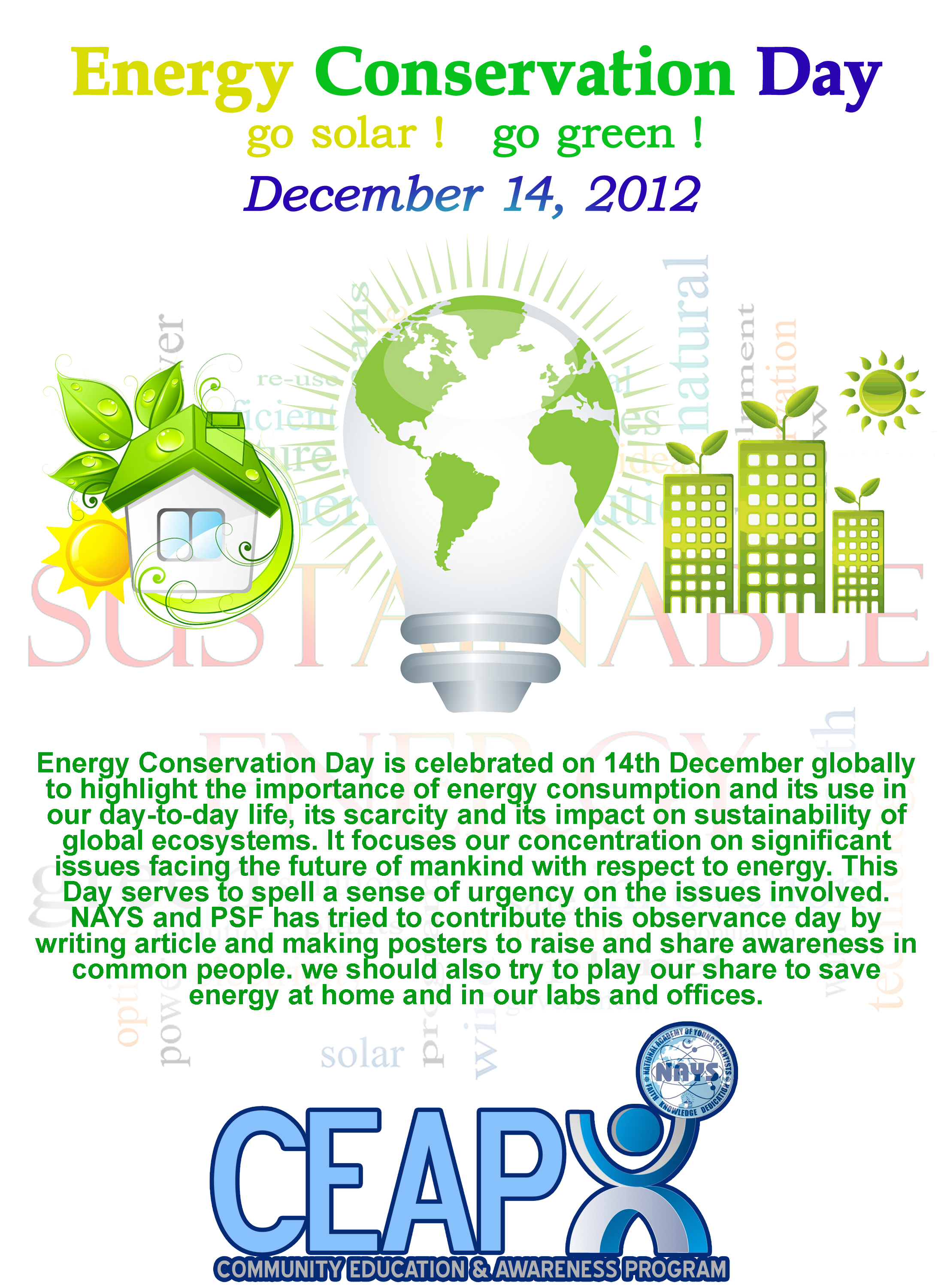 national academy of young scientists nays world energy world energy conservation day 14th