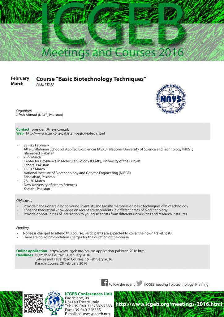 ICGEB_PAK_Biotechnology2016_Flyer-1
